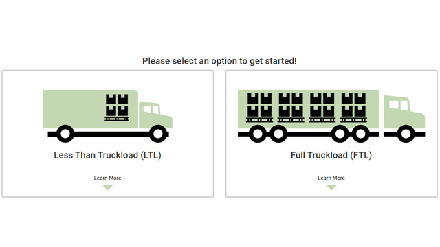 Less Than Truckload (LTL) Icon and Full Truckload (FTL) Icon